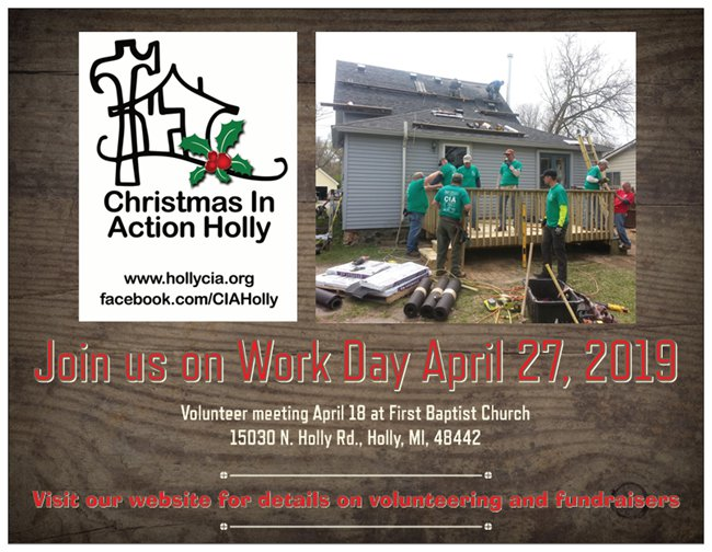 Volunteer For Christmas 2019 2019 Workday Volunteer Meeting: Christmas In Action   Holly Michigan